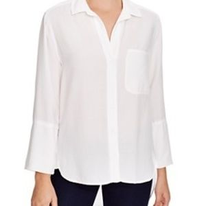 Anthropologie Cloth & Stone White Top Size Small